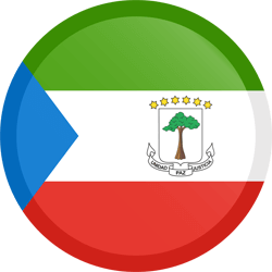 Flag of Equatorial Guinea - Button Round