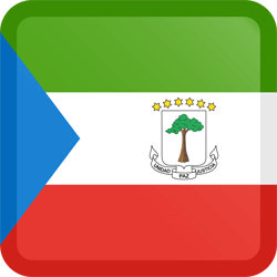 Flag of Equatorial Guinea - Button Square