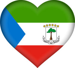 Flag of Equatorial Guinea - Heart 3D