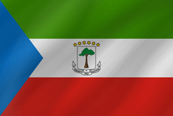 Flag of Equatorial Guinea - Wave