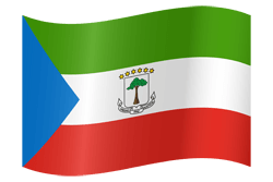 Flag of Equatorial Guinea - Waving