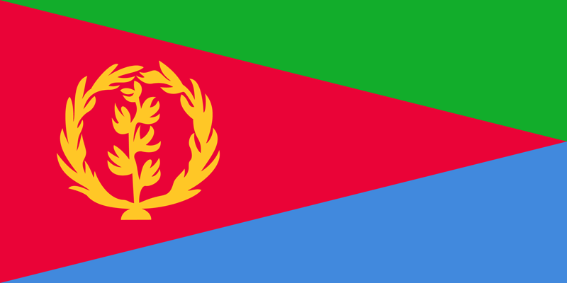 Eritrea Flagge Paket