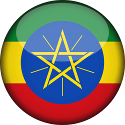 Flag of Ethiopia - 3D Round