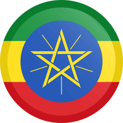 Flag of Ethiopia - Button Round