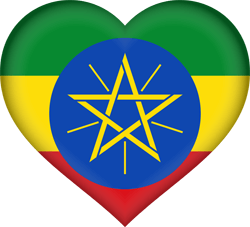Flag of Ethiopia - Heart 3D