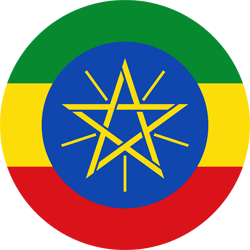 Flag of Ethiopia - Round
