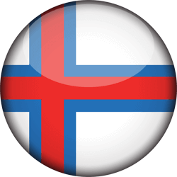 Flag of the Faroe Islands - 3D Round