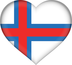 Flag of the Faroe Islands - Heart 3D