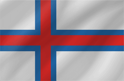 Flag of the Faroe Islands - Wave