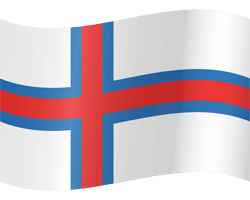 Flag of the Faroe Islands - Waving