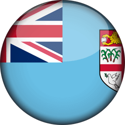 Flag of Fiji - 3D Round