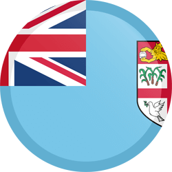 Flag of Fiji - Button Round