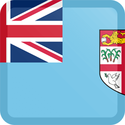 Flag of Fiji - Button Square