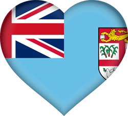Flag of Fiji - Heart 3D