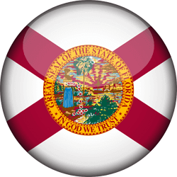Flag of Florida - 3D Round