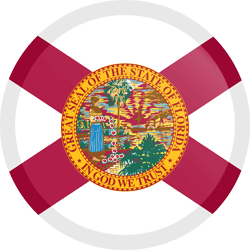 Flag of Florida - Button Round