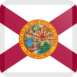 Flag of Florida - Button Square