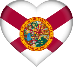 Flag of Florida - Heart 3D