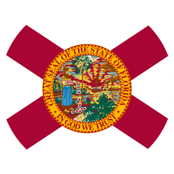 Flag of Florida - Round