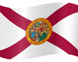 Flag of Florida - Waving