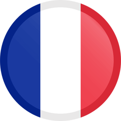 Flag of France - Button Round