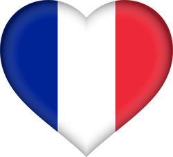 Flag of France - Heart 3D