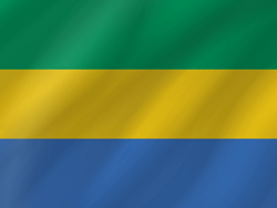 Drapeau du Gabon - Vague
