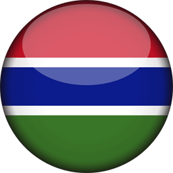 Flag of Gambia, the - 3D Round