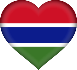 Flag of Gambia, the - Heart 3D