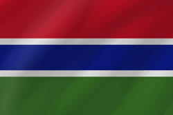 Flag of Gambia, the - Wave