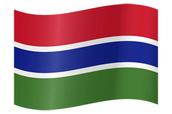 Flag of Gambia, the - Waving