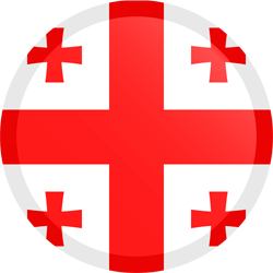 Flag of Georgia - Button Round