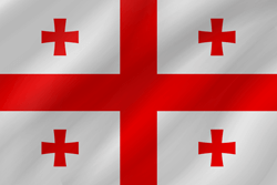 Flagge von Georgia Emoji - Gratis Download