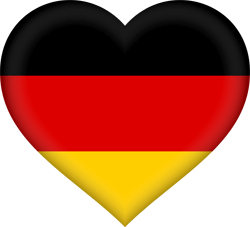 Flag of Germany - Heart 3D