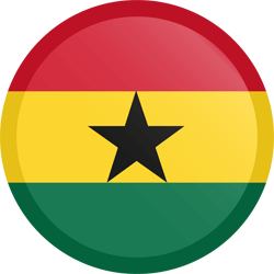 Flag of Ghana - Button Round