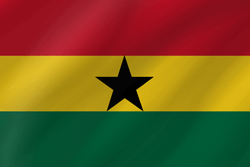 Ghana vlag vector - gratis downloaden