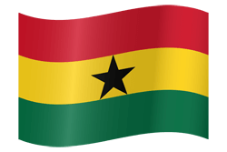 Flag of Ghana - Waving