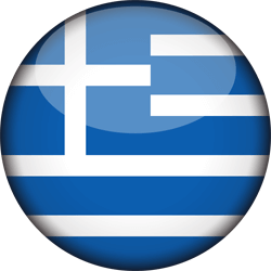 Flag of Greece - 3D Round