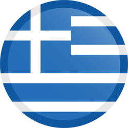 Flag of Greece - Button Round