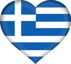 Flag of Greece - Heart 3D