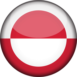 Flag of Greenland - 3D Round