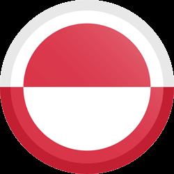 Vlag van Groenland - Knop Rond