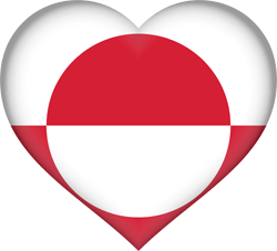 Flag of Greenland - Heart 3D