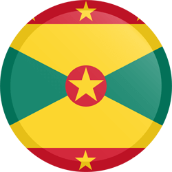 Flag of Grenada - Button Round