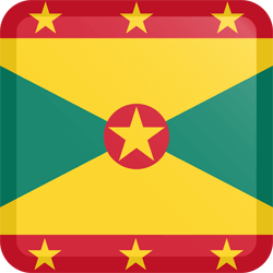 Flag of Grenada - Button Square