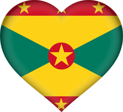 Flag of Grenada - Heart 3D