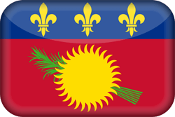 Flag of Guadeloupe - 3D
