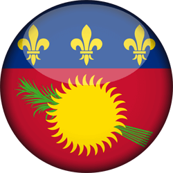 Flag of Guadeloupe - 3D Round