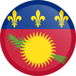 Flag of Guadeloupe - Button Round