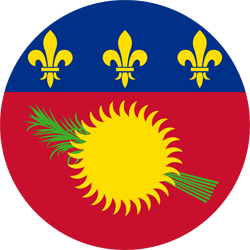 Flag of Guadeloupe - Round